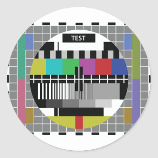 Sticker Rond Common Essai PAL TV
