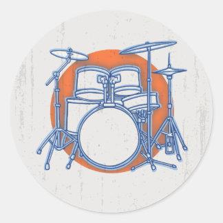 Sticker Rond Compensation de kit de tambour