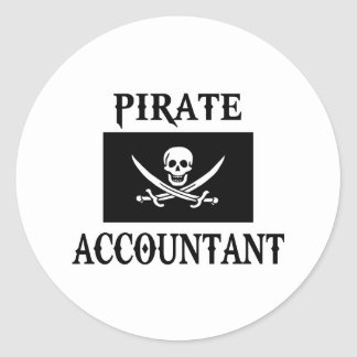 Sticker Rond Comptable de pirate