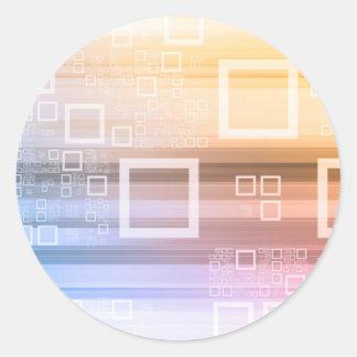 Sticker Rond Concept du trafic de train de données de données