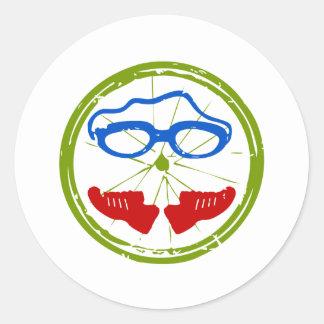 Sticker Rond Conception artistique fraîche de triathlon