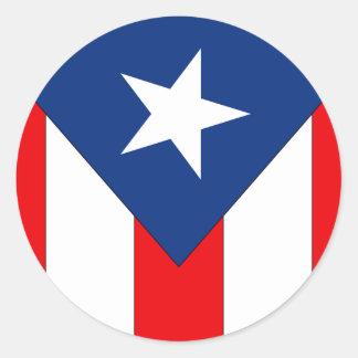 Sticker Rond Conception de drapeau de Puerto Rico2 -