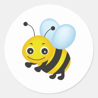 Sticker Rond Conception mignonne d'abeille