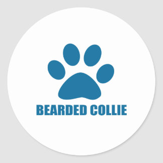 STICKER ROND CONCEPTIONS BARBUES DE CHIEN DE COLLEY