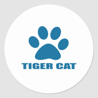 STICKER ROND CONCEPTIONS DE CAT DE CAT DE TIGRE