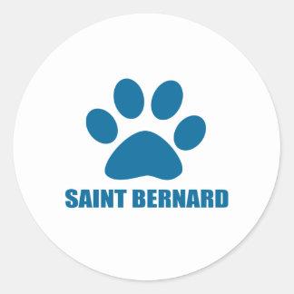 STICKER ROND CONCEPTIONS DE CHIEN DE ST BERNARD