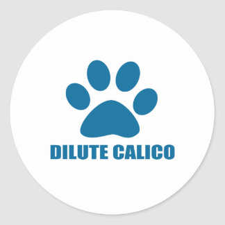 STICKER ROND CONCEPTIONS DILUÉES DE CAT DE CALICOT