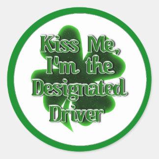 Sticker Rond Conducteur indiqué du jour de St Patrick
