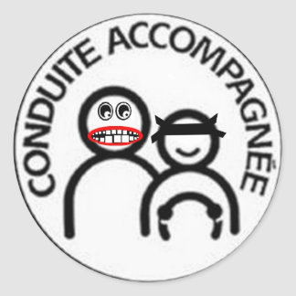 Sticker Rond conduite accompagnée à risque