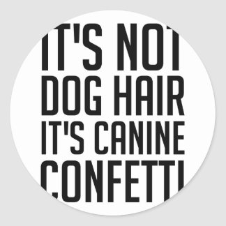 Sticker Rond Confettis canins