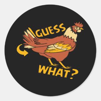 Sticker Rond Conjecture quel bout de poulet