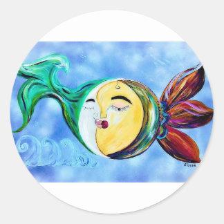 Sticker Rond Connexion rêveuse d'amour