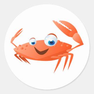 Sticker Rond Connor le crabe