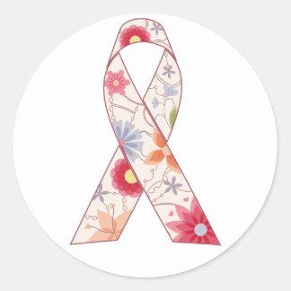 Sticker Rond Conscience de cancer du sein d'autocollants