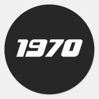 Sticker Rond Copie 1970 gentille