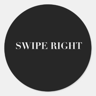 Sticker Rond Copie de droite de grand coup