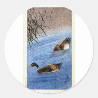 Sticker Rond Copie vintage de canard