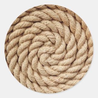 Sticker Rond corde, marque ronde de conception de cercle de