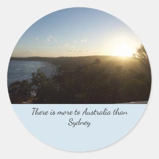 Sticker Rond Coucher du soleil de l'Australie