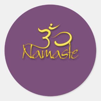 Sticker Rond Couleur du symbole de l'OM/namaste/DIY