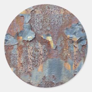Sticker Rond Couleurs de Rust_725, Rouille-Art