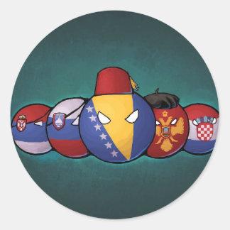 Sticker Rond Countryballs balkanique