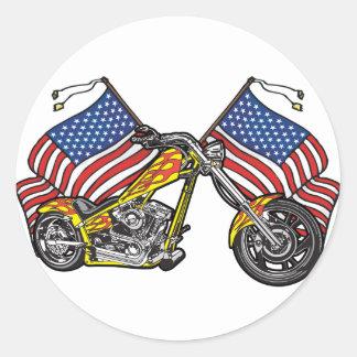Sticker Rond Couperet américain de cycliste