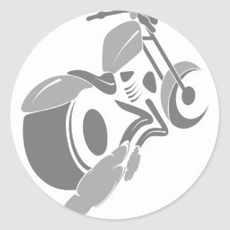 Sticker Rond Couperet de moto