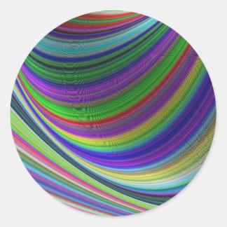 Sticker Rond Courbes de couleur