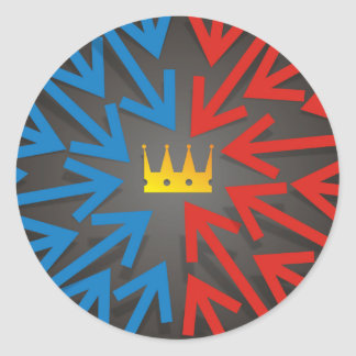 Sticker Rond Couronne d'or