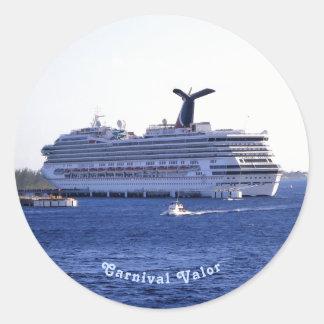 Sticker Rond Coutume de visite de bateau de croisière de