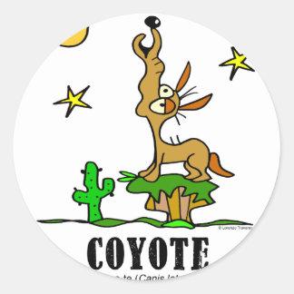 Sticker Rond Coyote par le © de Lorenzo Lorenzo 2018 Traverso
