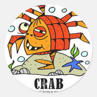 Sticker Rond Crabe par le © de Lorenzo Lorenzo 2018 Traverso