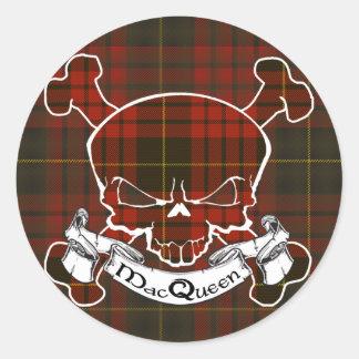 Sticker Rond Crâne de tartan de MacQueen