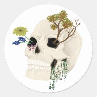 Sticker Rond Crâne envahi