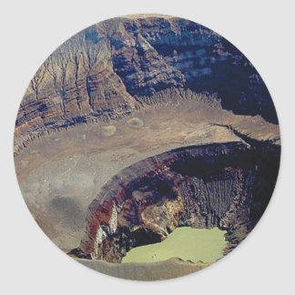 Sticker Rond cratère volcanique profond