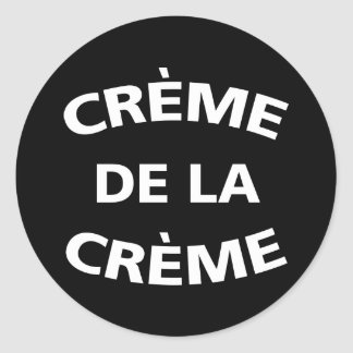 Sticker Rond Creme De La Creme