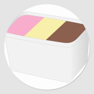 Sticker Rond Crème glacée napolitain