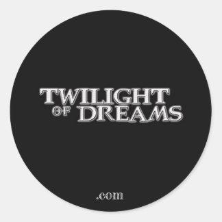 Sticker Rond Crépuscule d'autocollant de rêves