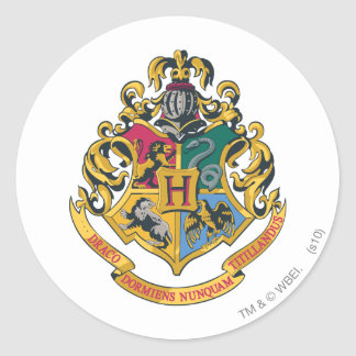 Sticker Rond Crête de Harry Potter | Hogwarts - polychrome