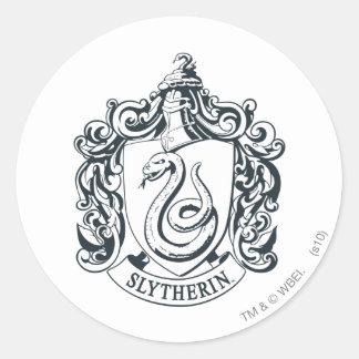 Sticker Rond Crête de Harry Potter | Slytherin - noire et