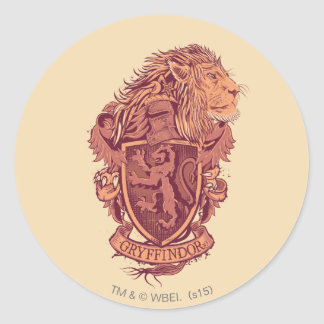 Sticker Rond Crête de lion de Harry Potter | Gryffindor