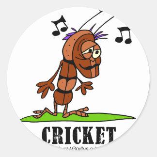 Sticker Rond Cricket par le © de Lorenzo Lorenzo 2018 Traverso