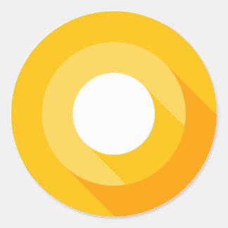 Sticker Rond cricle de jaune de console de promoteurs