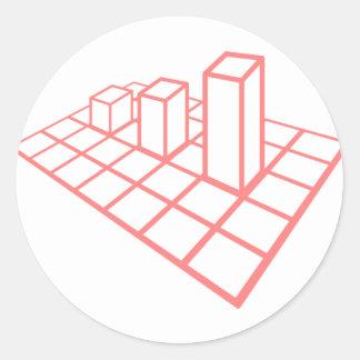 Sticker Rond Croissance de diagramme