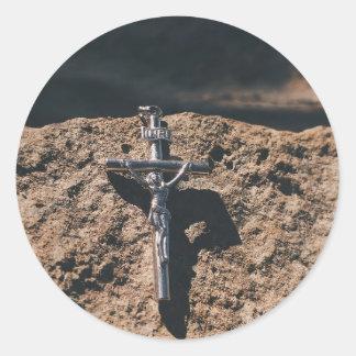 Sticker Rond croix et sable