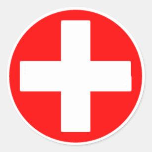 autocollants stickers croix rouge. Black Bedroom Furniture Sets. Home Design Ideas