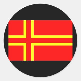 Sticker Rond Croix Saint Olaf