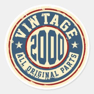 Sticker Rond Cru 2000 toutes les pièces d'original