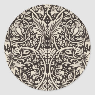 Sticker Rond Cru floral de motif de jonquille de William Morris